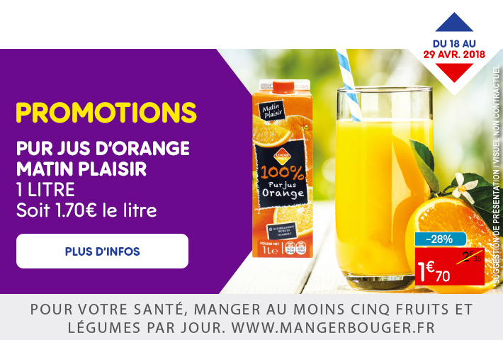 PUR JUS D'ORANGE MATIN PLAISIR